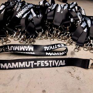 MAMMUT-Schlüsselband/Lanyard mit Karabinerhaken, Stückpreis: 3,00 EUR